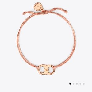 Tory Burch embrace ambition rose gold bracelet nwt